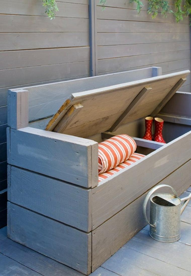 diy rangement outils de jardin banc-coffre-meuble