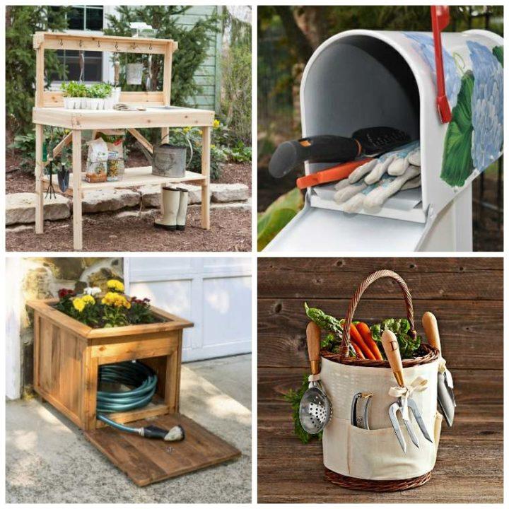 429364f88cc63 DIY rangement outils de jardin en 40 solutions astucieuses - La ...