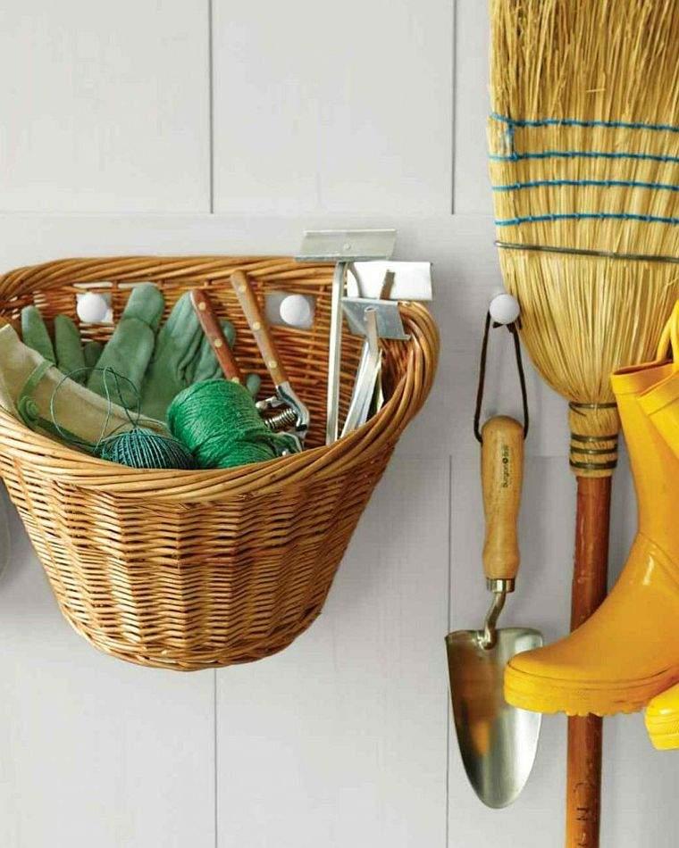 diy rangement outils de jardin panier-mur
