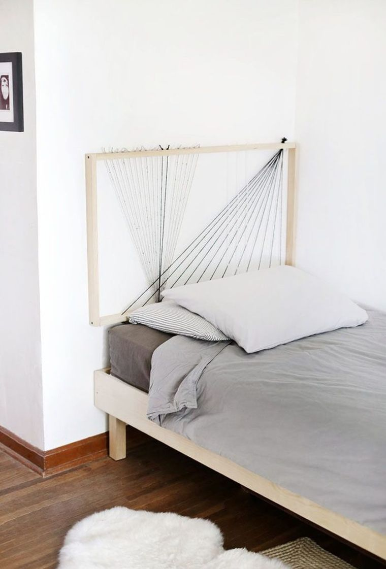 diy tete de lit simple avec corde