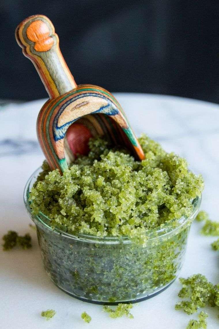 gommage corps recette maison the vert recette