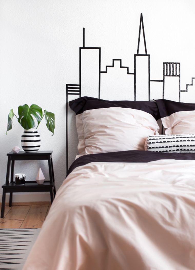 idée tête de lit DIY simple avec washi tape
