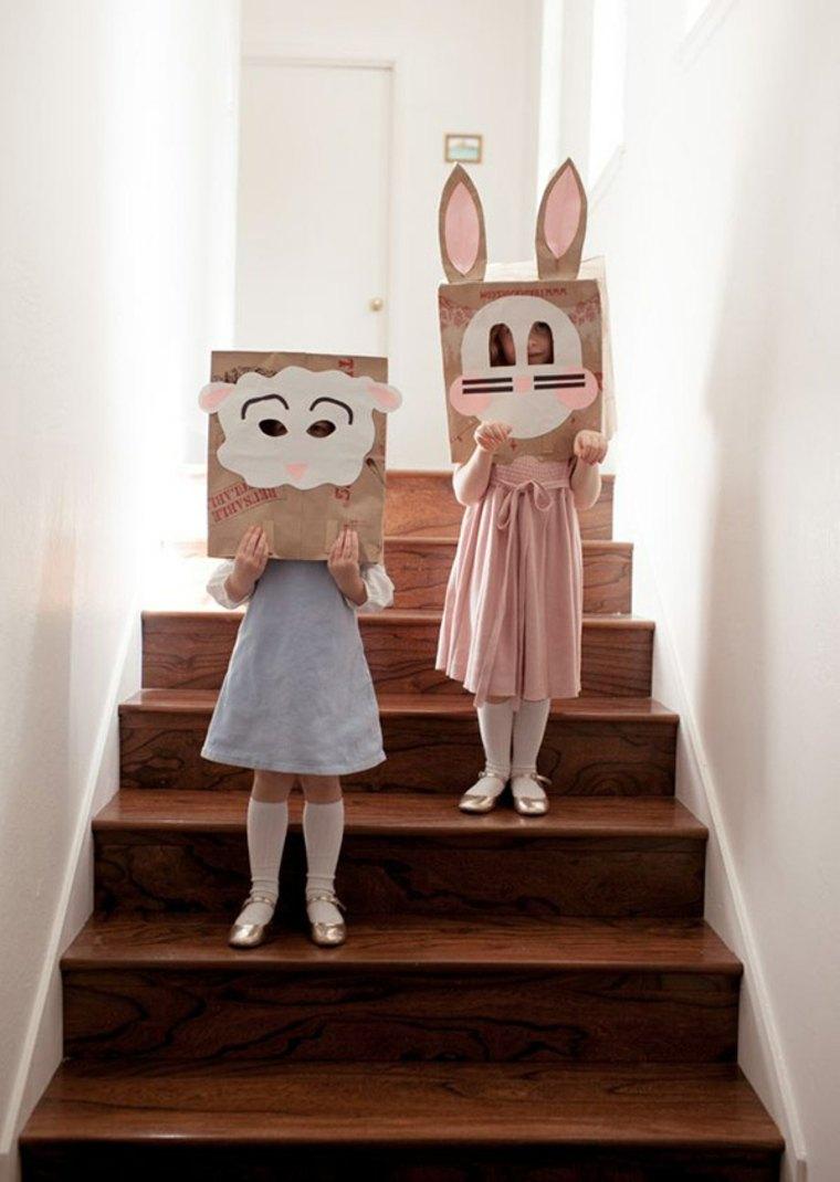 activité manuelle enfant sac papier diy idée lapin