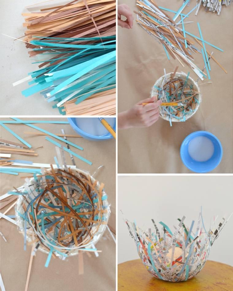activité manuelle pâques enfant brico corbeille de pâques papier diy