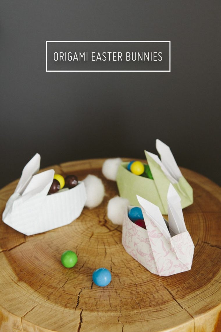 idée origami lapin déco pâques papier pas cher activité enfant bricolage de pâques