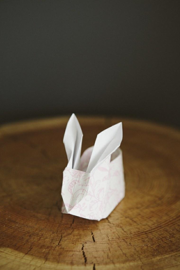 décoration pour pâques idée origami lapin papier diy activité enfant bricolage de pâques