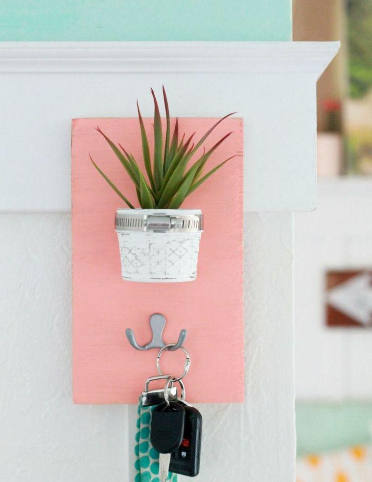 porte clé mural diy-deco-porte-plante-succulente