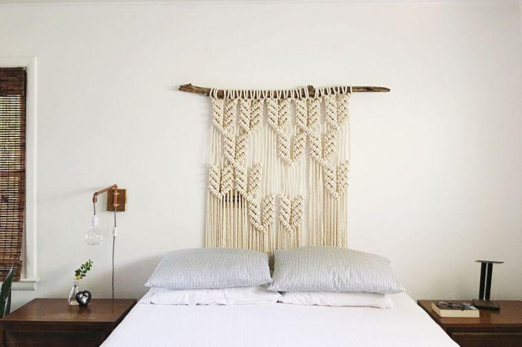 tête de lit en marcramé idee facile