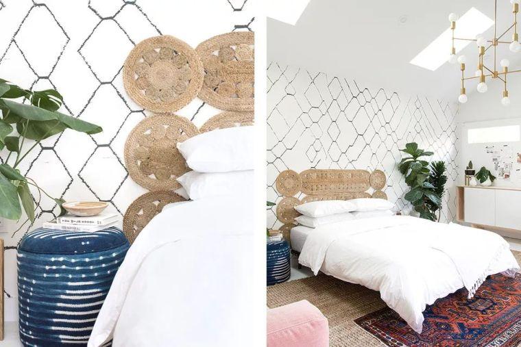 tête de lit originale tissée diy