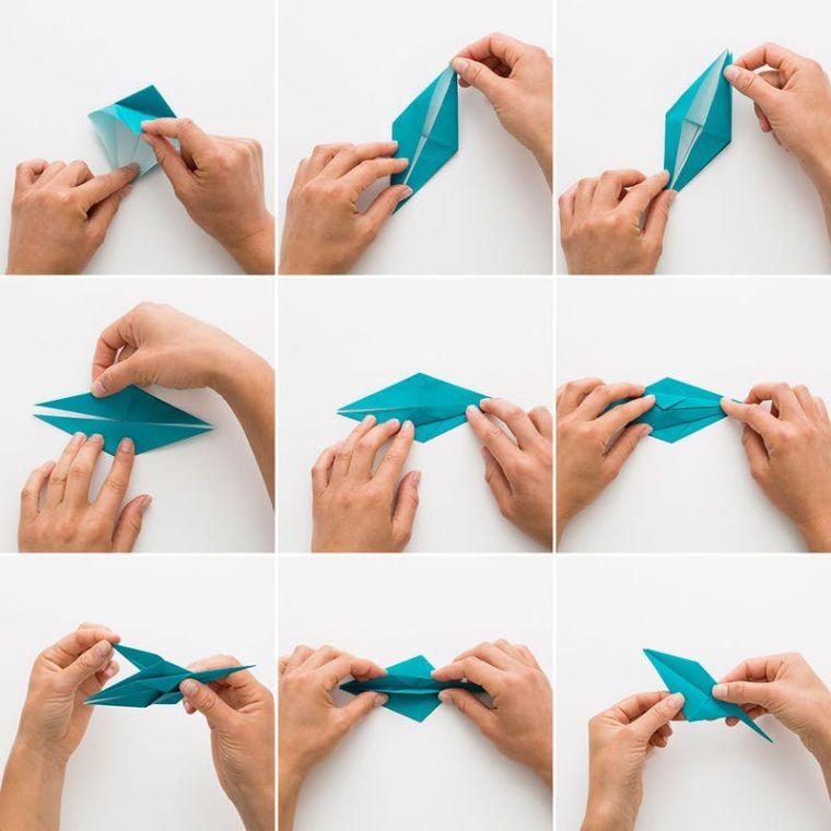 origami facile grue-papier-pliage-modele-instrcutions