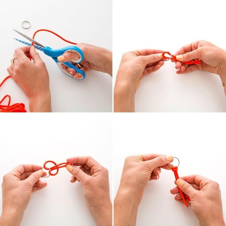 activites manuelles adulte porte cle faire un accessoire corde