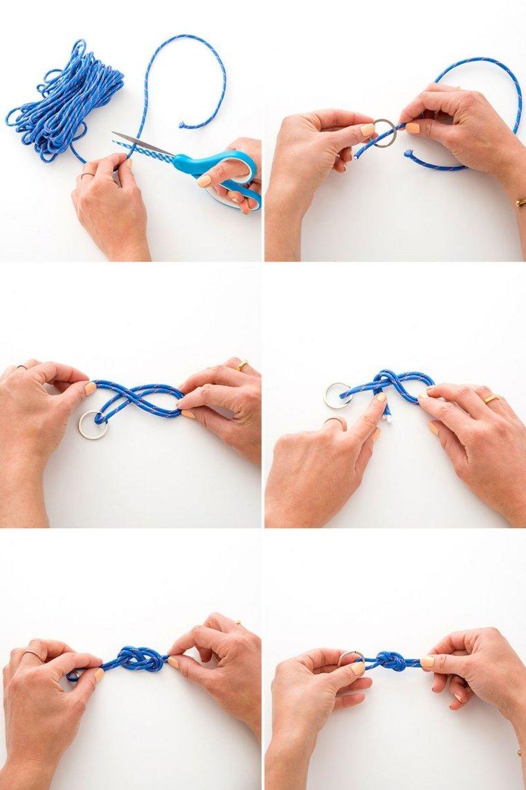 tutoriel pour faire porte cléf facile corde noeuds marins