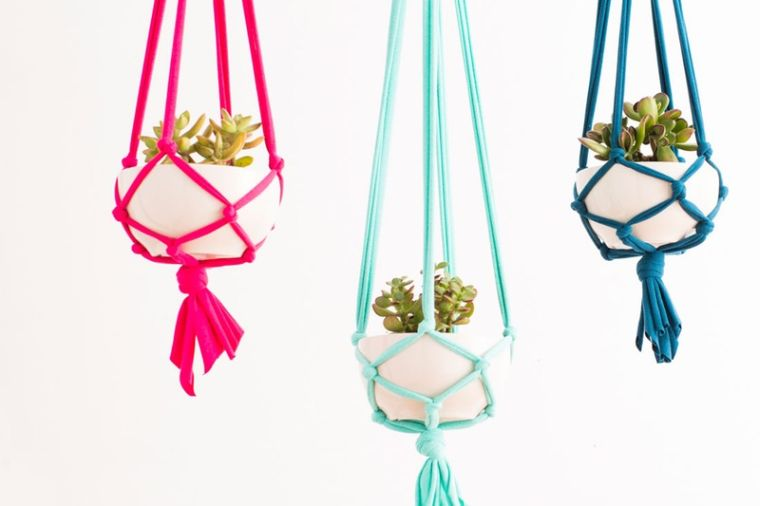 diy pot de fleur suspendu corde-tuto-suspension-florale-plantes
