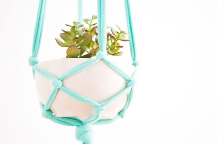 diy pot de fleur suspendu macrame-suspension-pas-cher