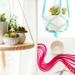 DIY pot de fleur suspendu – 2 tutos de déco avec suspension plante
