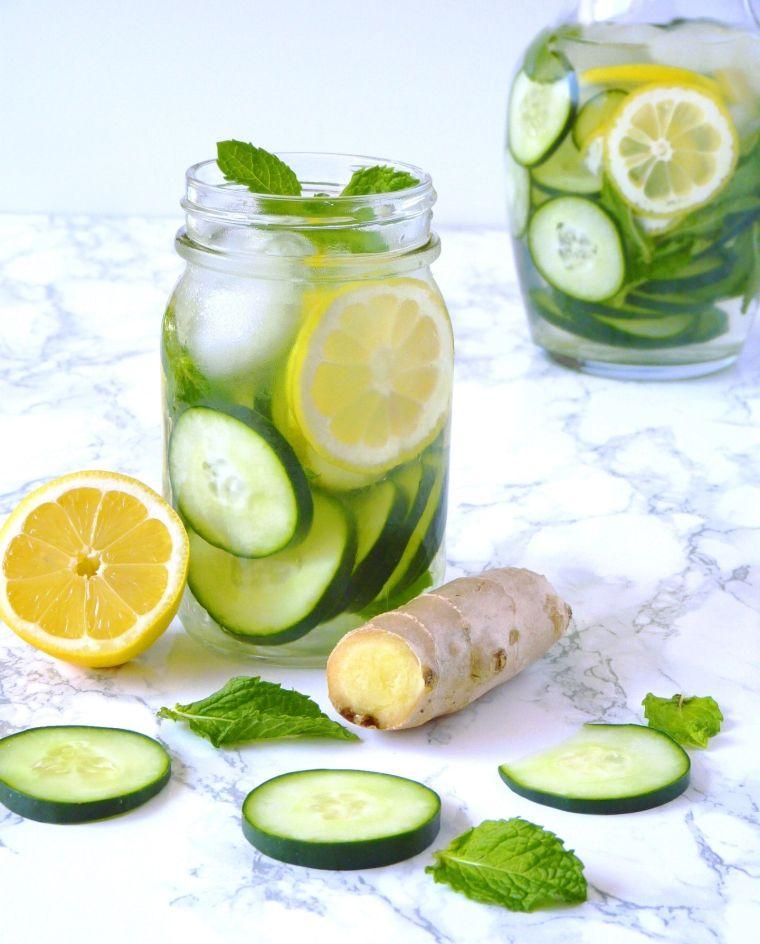 eau de gingembre concombre recettes