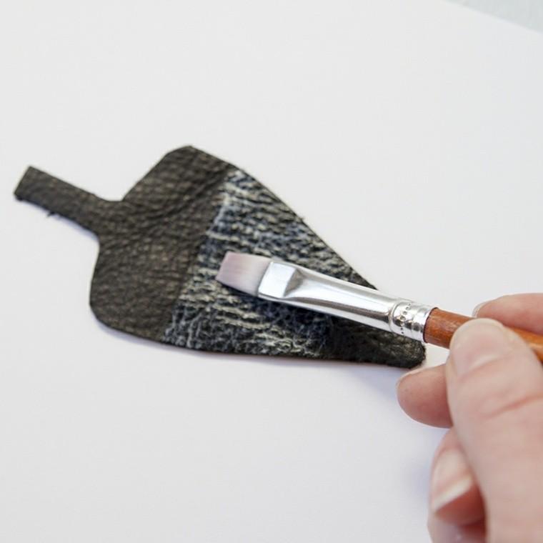 accessoire en cuir à fabriquer idee porte cle diy deco cuir