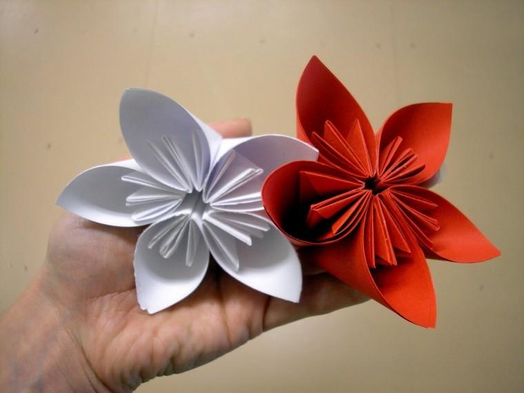 diy fleur en papier origami idée diy
