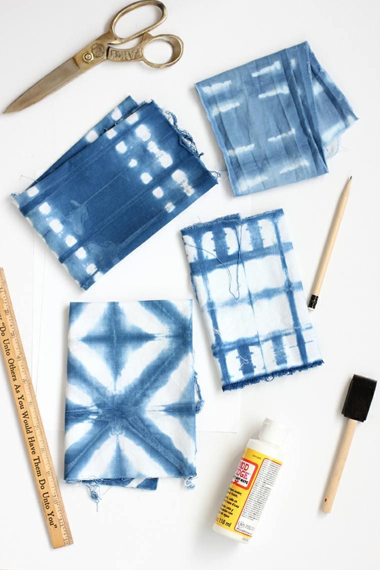 marques-pages-cadeaux-tissu-shibori