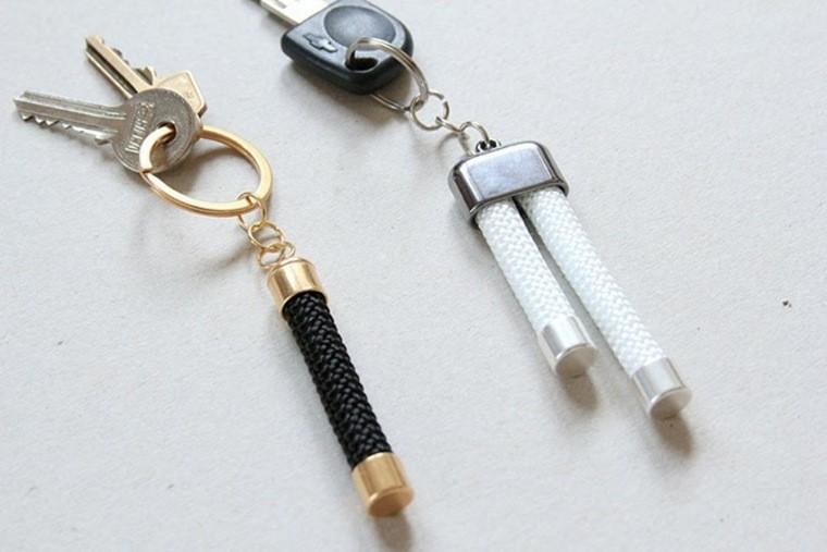 portes clés diy corde metal modele accessoire à faire soi meme