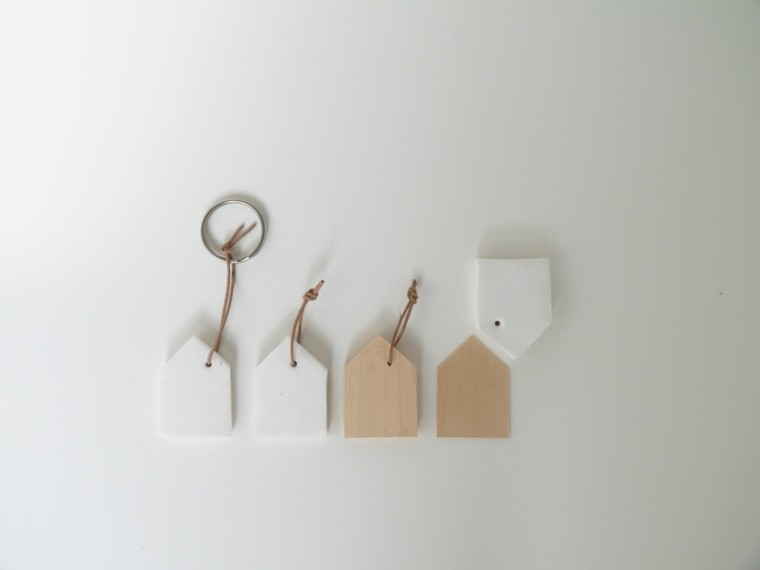 tuto porte clé diy bricolage pate sel accessoire bois