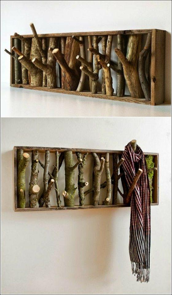 déco nature des pièces de bois design porte manteau