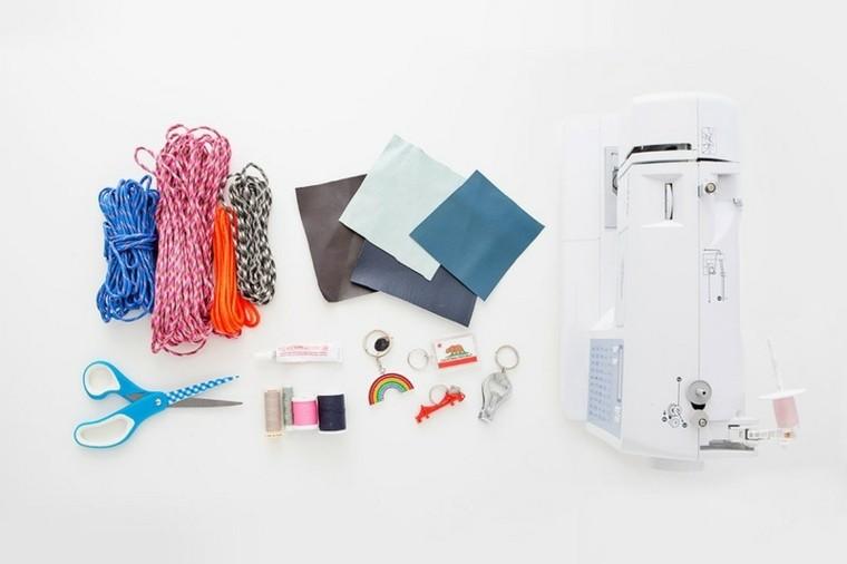tutoriel bricolage porte clé design moderne création corde