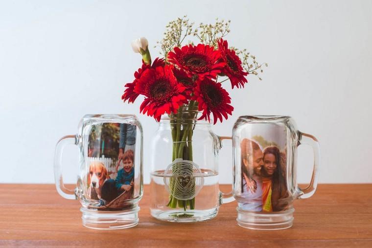 idée récup déco espace vase fleurs