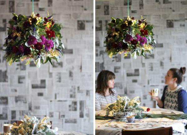 abat jour DIY fleurs