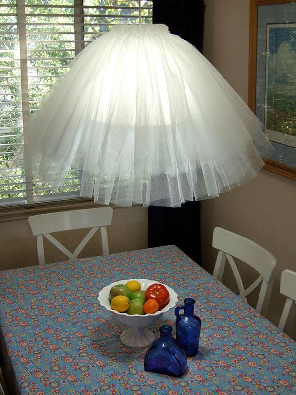 abat jour DIY lampe suspendue tissu