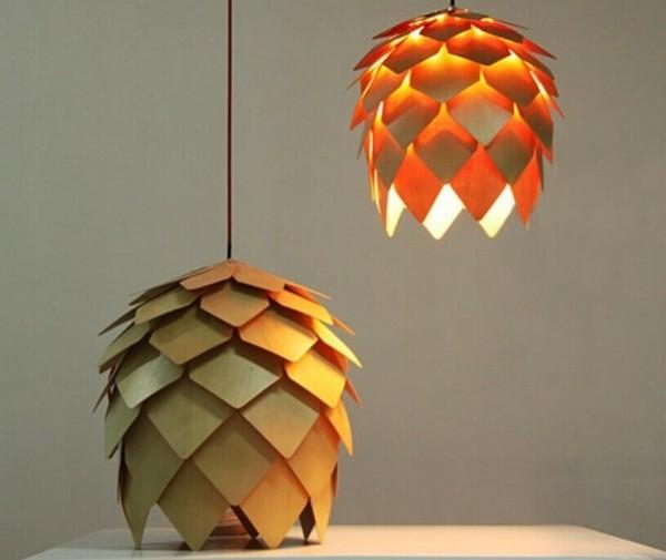 bricolage abat jour pas cher bois fin idée originale