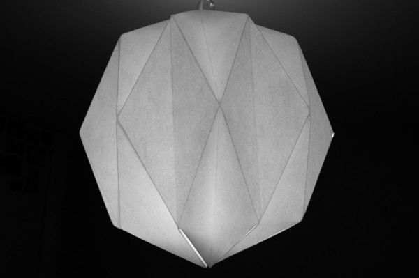 design bricolage abat-jour papier origami pas cher facile à réaliser
