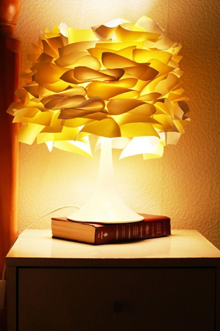 abat-jour diy papier idée original lampe à pied abat jour fabriquer