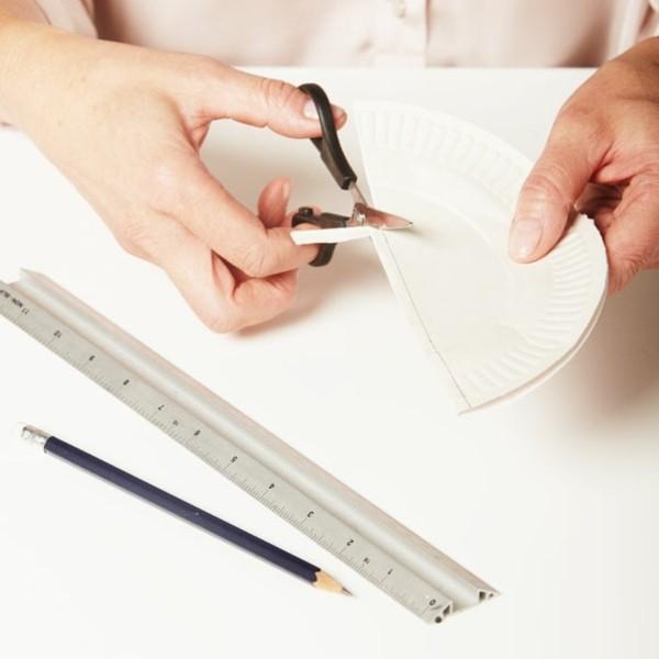 abat jour assiettes carton bricolage idée originale