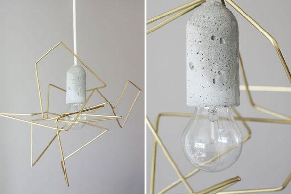 abat jour minimaliste DIY