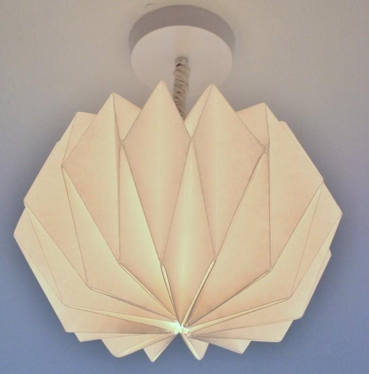 abat-jour diy papier origami idée