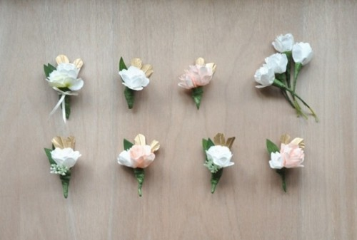 accessoirs mariage revers fleurs