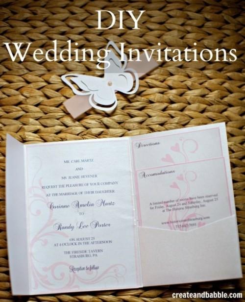 invitations faites main
