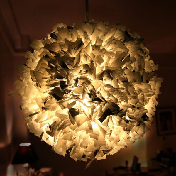 suspension luminaire DIY original