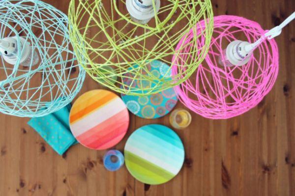 suspensions luminaires couleurs