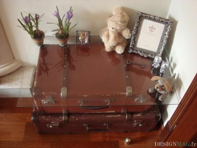 Idée DIY – table basse originale en vieilles valises