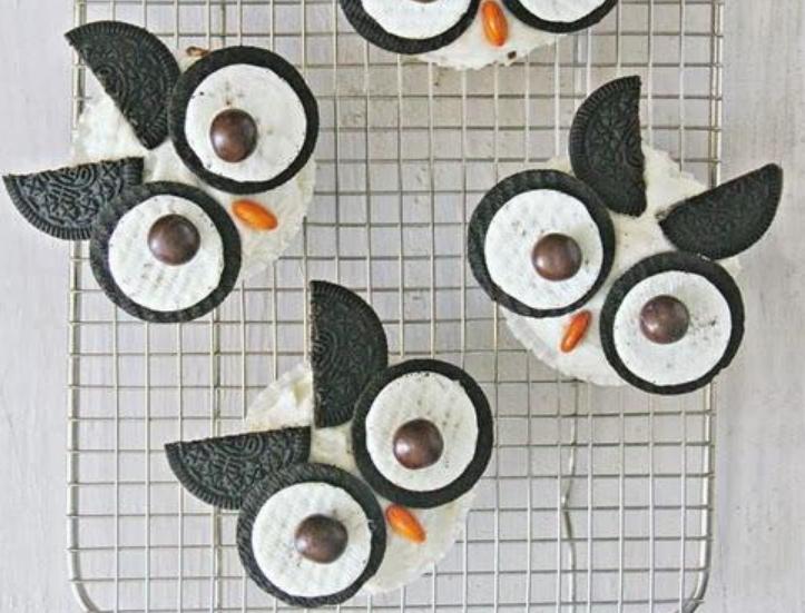 Cupcakes-Halloween-faciles-hibou
