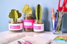 DIY : des plantes en papier pour décorer son bureau