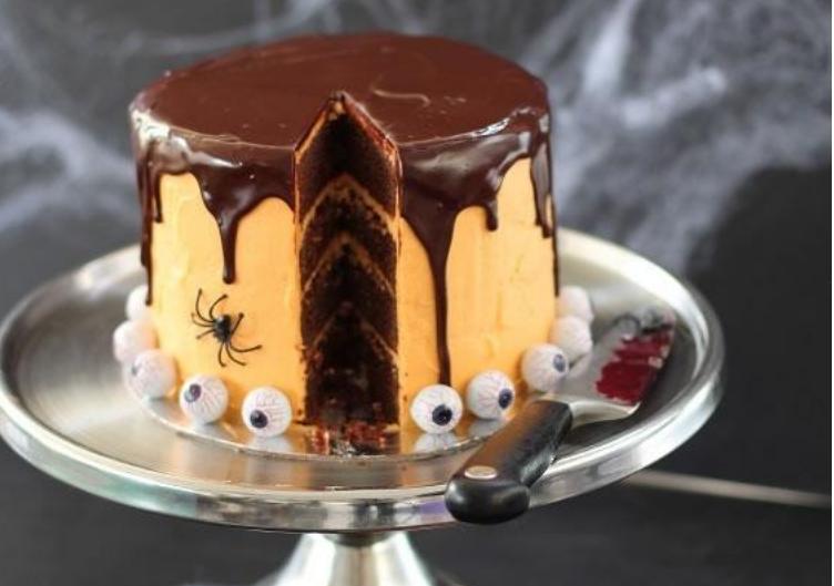 Gateau-au-chocolat-Halloween
