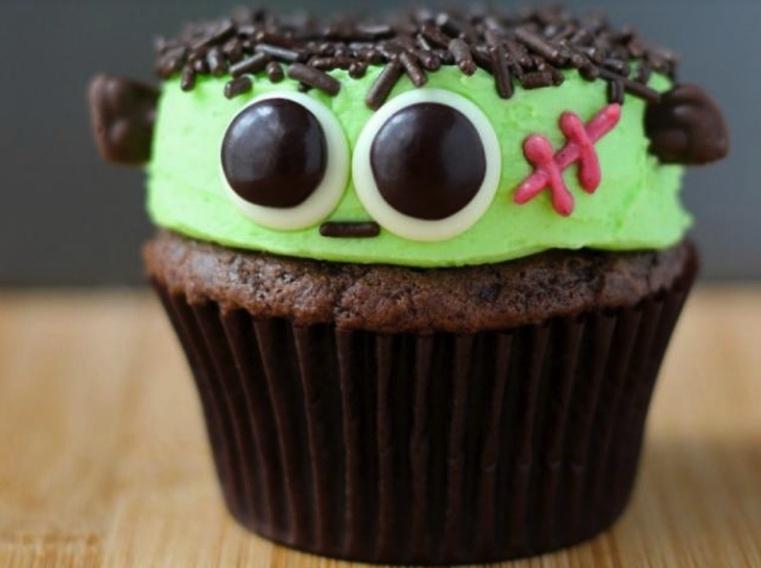 Repas-Halloween- Cupcakes-Frankenstein