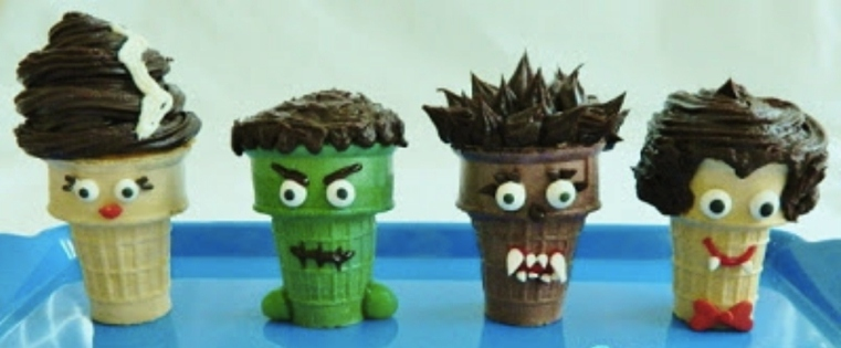 Repas-special-Halloween-Cones-cupcake-effrayants