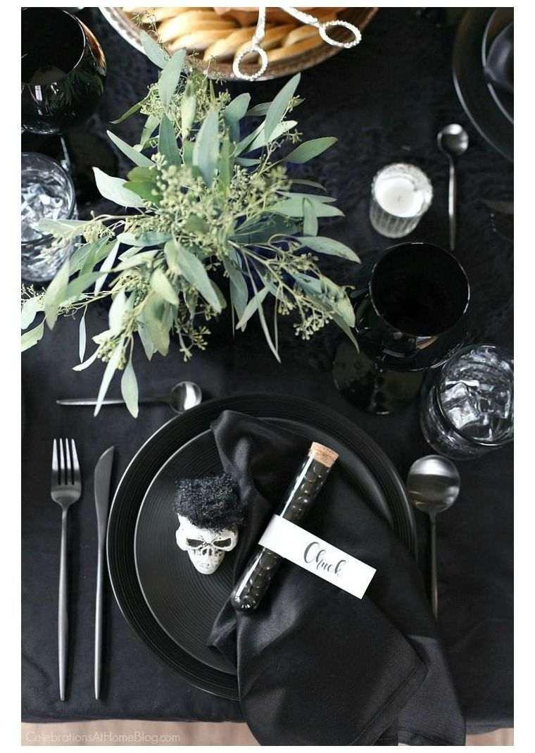 deco-de-table-pour-halloween-noir