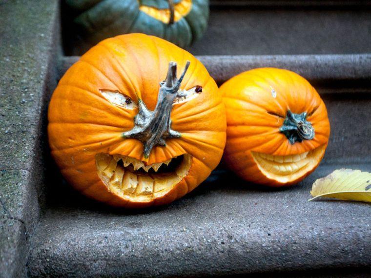 déco halloween fait maison idee-citrouille-effrayante