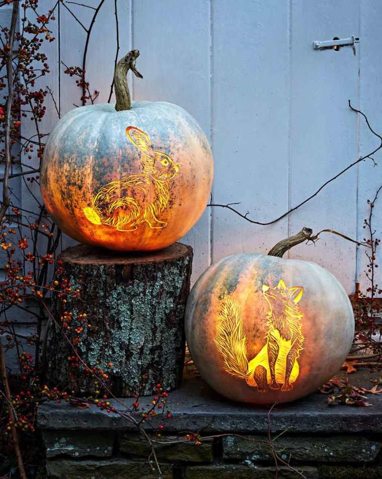 déco halloween fait maison lanterne-citrouille-originale