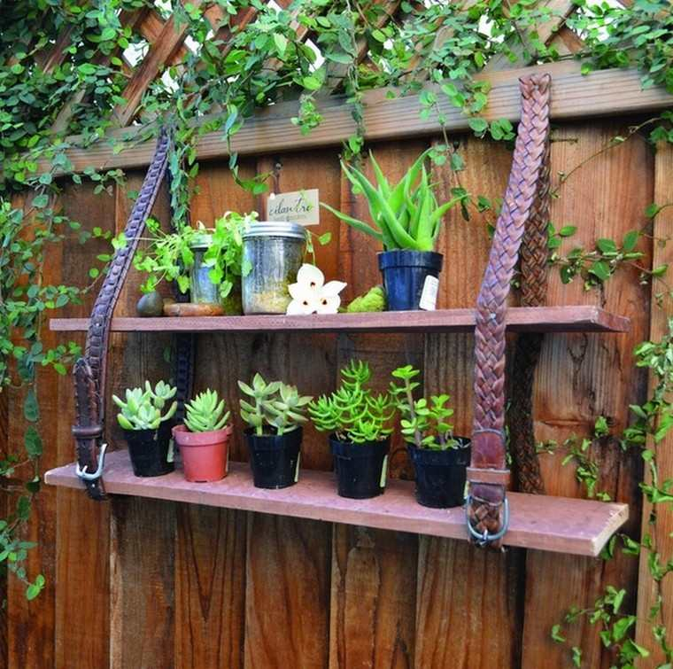pot plantes déco récup étagères